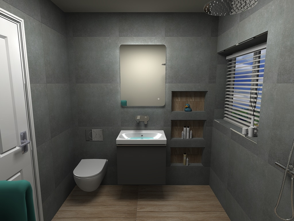 Bathroom Design with Recesses