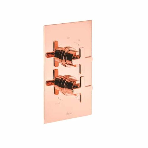 Abode Serenitie Rose Gold Concealed Thermostatic Shower Valve - 2 Control