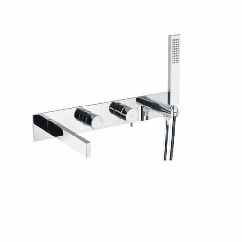 Abode Cyclo Wall Mounted Bath Shower Mixer with hose and handset AB4176