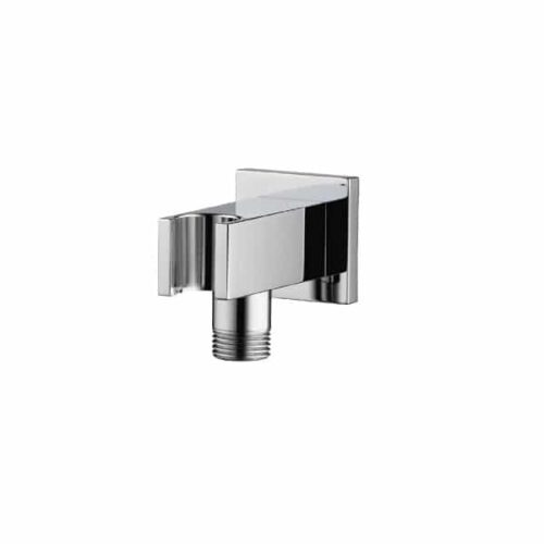 Aqualisa Options Square Wall Outlet with Integral Handshower Holder - Chrome - OPN7007