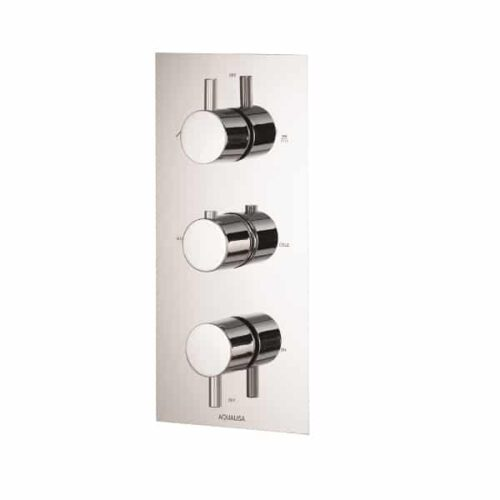 Rise Thermostatic Concealed 3 Way Shower Valve - RSDCV003